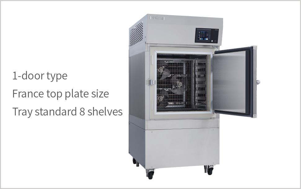 1-door type France top plate size Tray standard 8 shelves